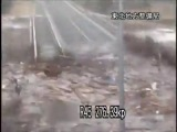 Цунами, кадры с дорожных камер в Японии